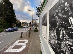 Envie 46/100, xylographie, 70 x 100 cm, Woluwe saint-pierre, 2020, affiché par Alix.