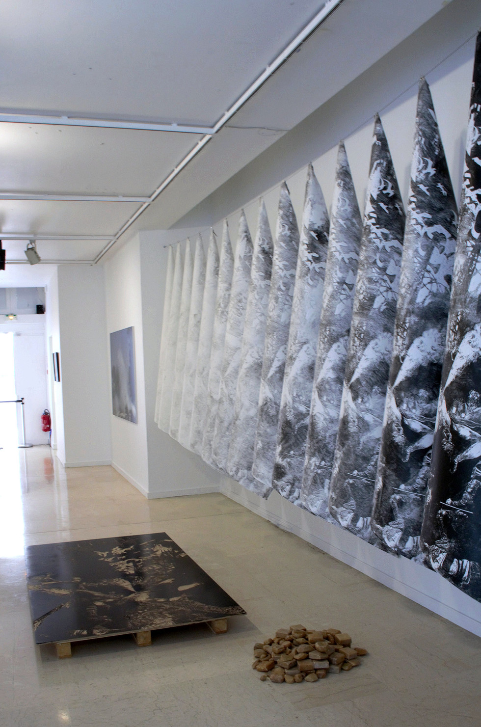 Lavandière de la nuit #3, installation performance, Centre Wallonie-Bruxelles, Paris, 2019