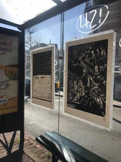 Envie 44/100, xylographie, 70 x 100 cm, Jubilé, 2020 affiché par Laetitia