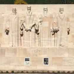 Envie 47/100, xylographie, mur des réformateurs, Genève, affiché par Lucrezia.