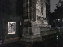 Orgueil 27/100, xylographie, 70 x 100 cm, Palais de justice.