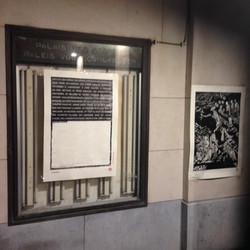 Envie 7/100, xylographie, 70 x 100 cm, Mont des arts, affiché par John