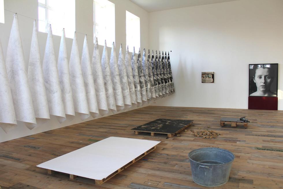 Lavandière de la nuit #3, installation performance, Ijsberg, Damme, 2019
