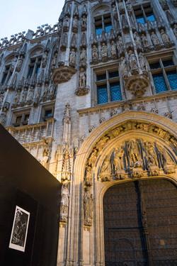 Orgueil 20/100, xylographie, 70 x 100 cm, Grand Place