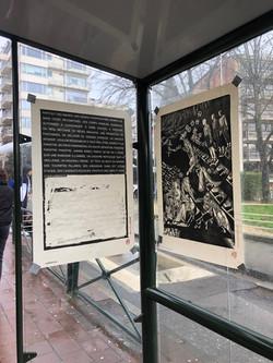Envie 19/100, xylographie, 70 x 100 cm, square de Héros, affiché par Caroline