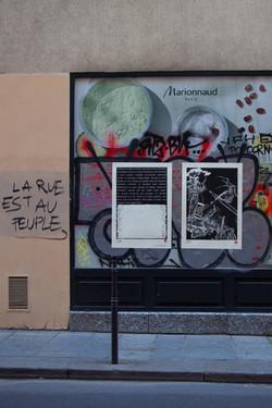 Orgueil 17 /50 I & II, 7 péchés du capitalisme, xylogravure, Rue vielle du Temple, 2021