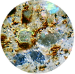 Chelyabinsk meteorite Thin Section seen through a PetroViewer