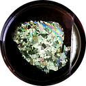 Peridotite mineral crystals seen through a PetroViewer