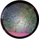 California's Ward Creek Amphibole mineral crystals seen through a PetroViewer