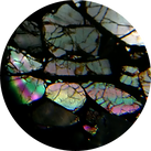 Course grained Brahin meteorite Thin Section seen through a PetroViewer
