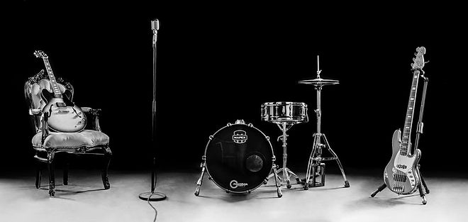 gravity_music_band_instruments_bw.jpg