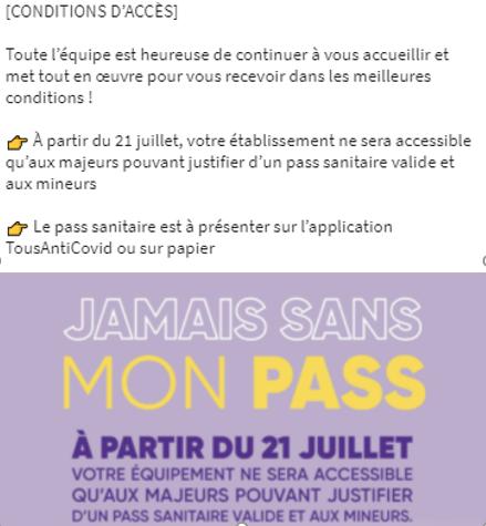 INFORMATIONS COVID-19 À LA PATINOIRE