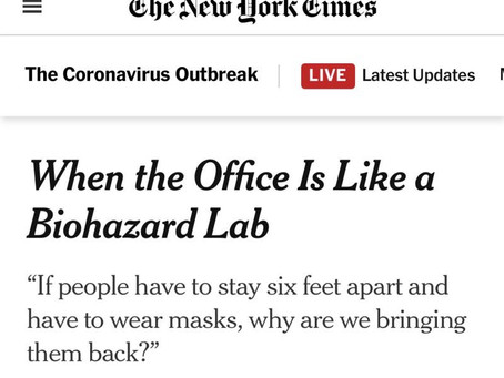 Post-lockdown workplaces