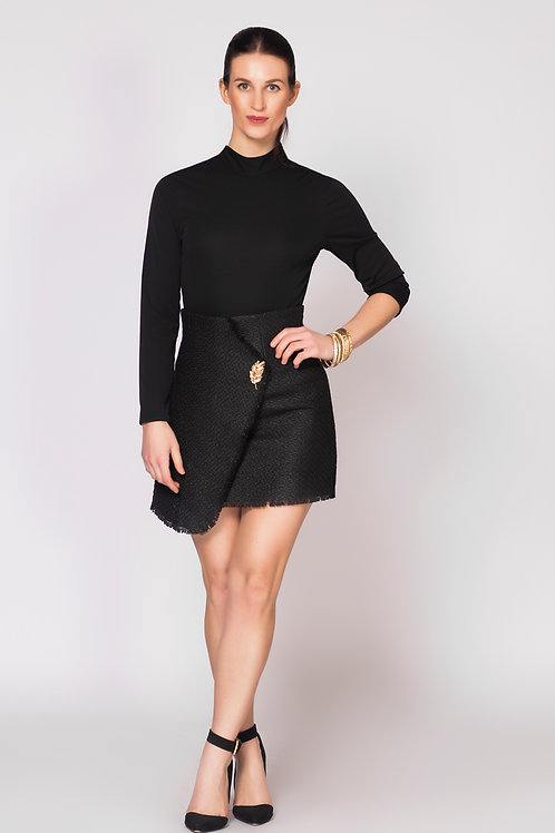 High Waist Asymmetrical Mini Skirt