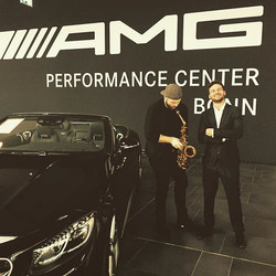 DJ Trompete last night _ Mercedes Benz presentation 🎷🎶_#rkg #slightdj #music #amg