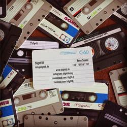 New Business Cards 🎧_#2017 #oldschool #mixtape