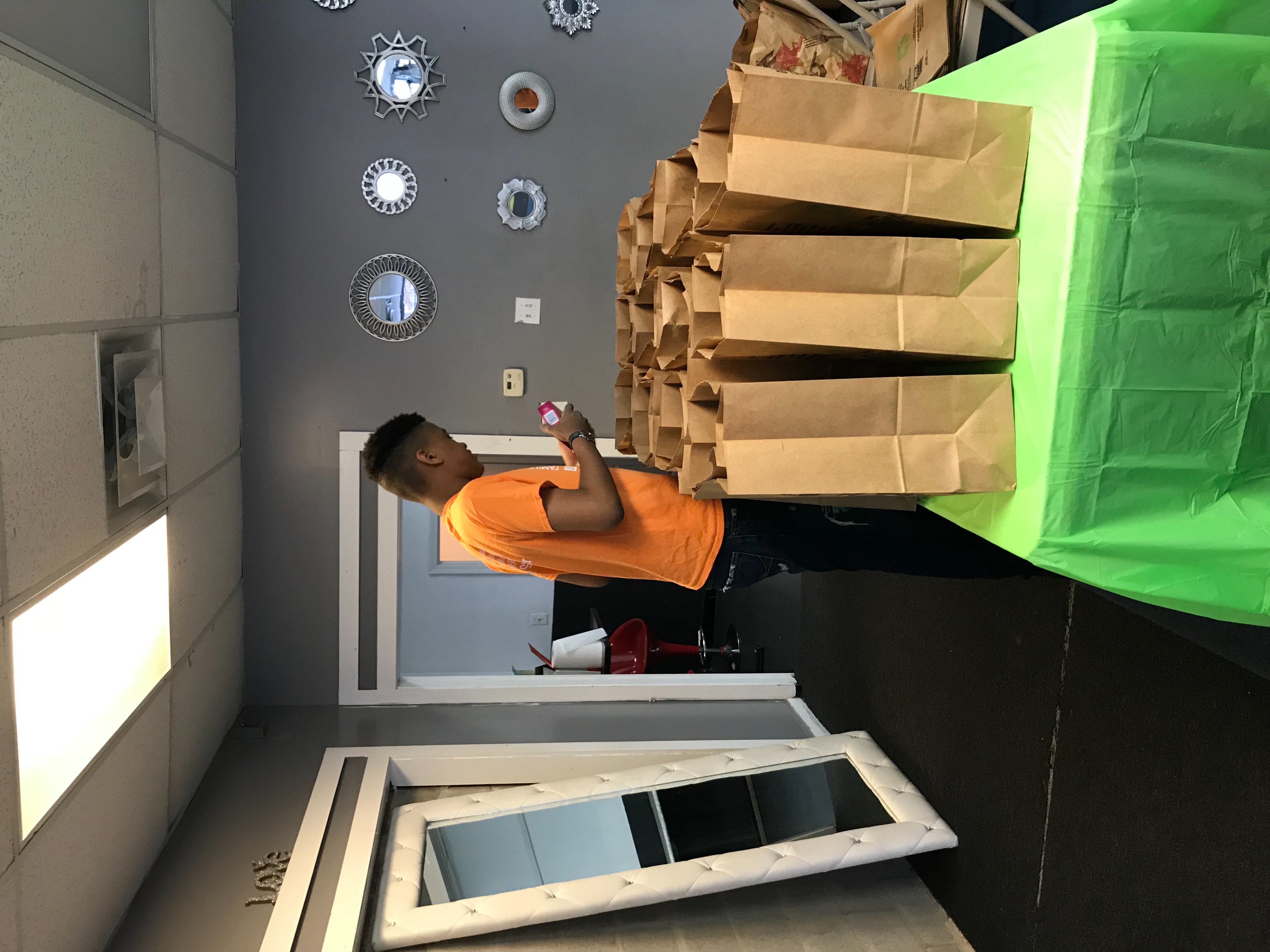 Packaging food bags