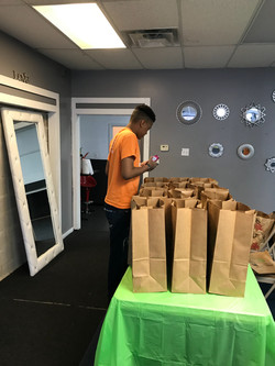 Packaging food bags