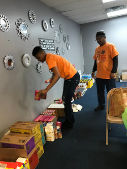 Preparation for the Food Give-A-Way