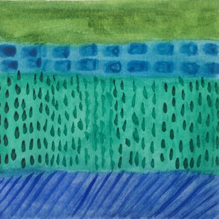 Watercolor Decor in Blues and Greens