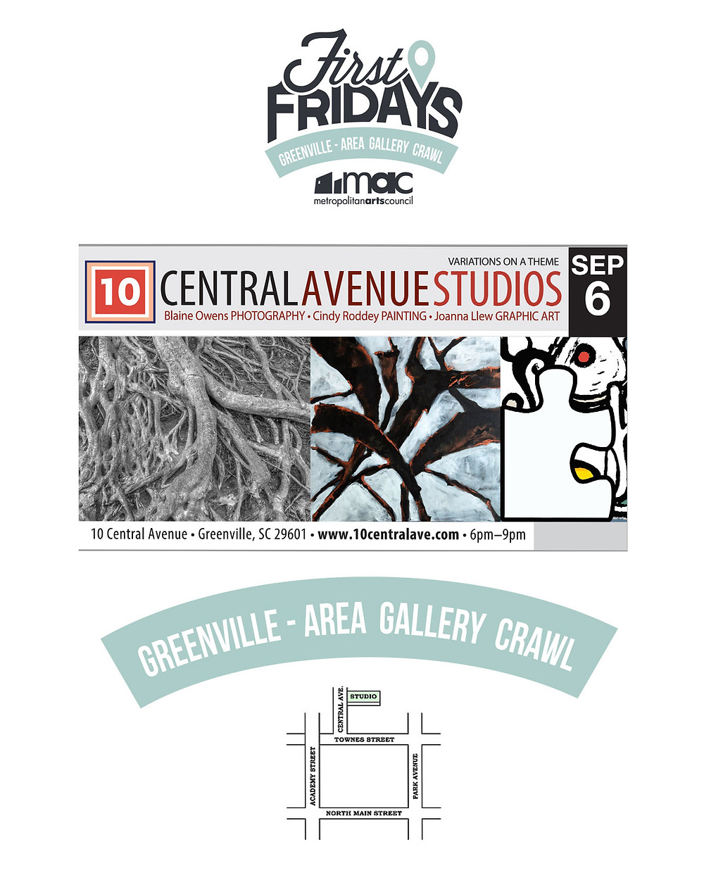 10 Central Avenue First Friday Sept 6, 2019