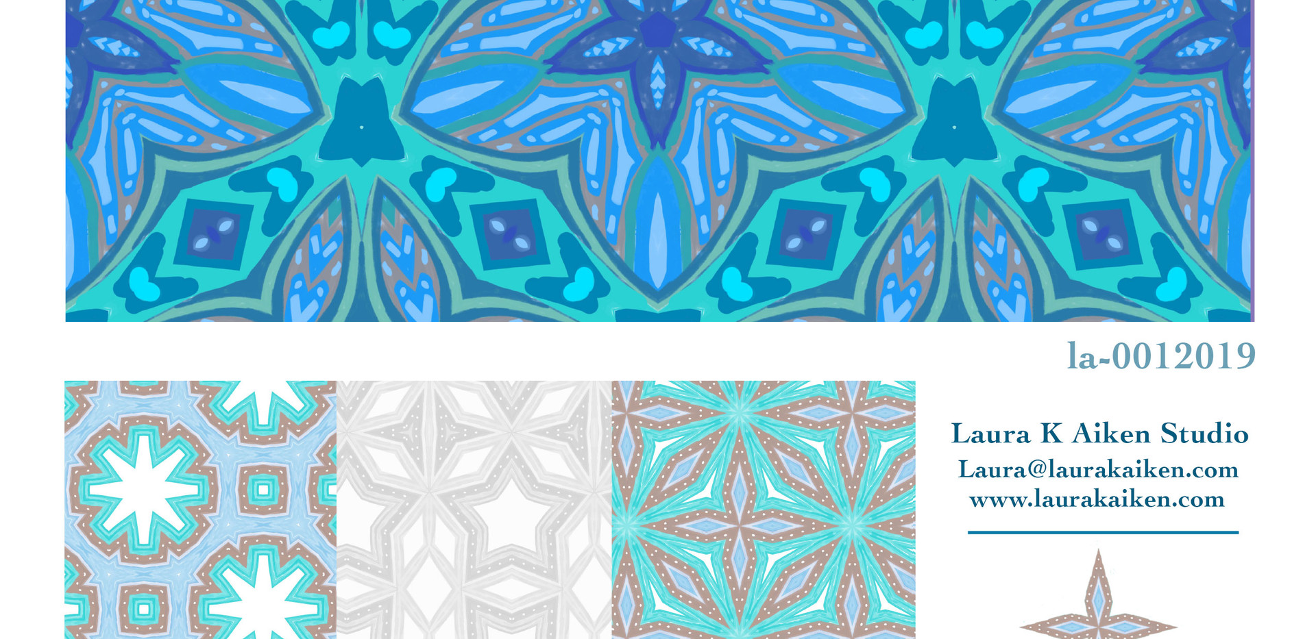 Beautiful blue patterns for baby, kitchen or bath