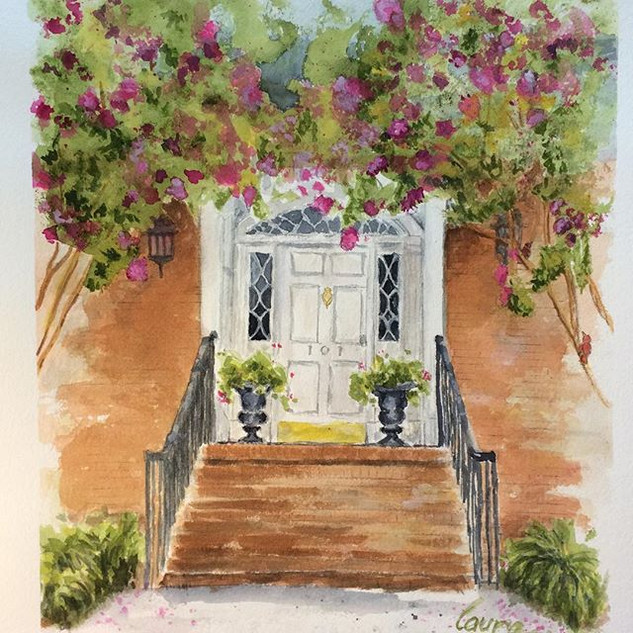 Lovely Entrance Watercolor