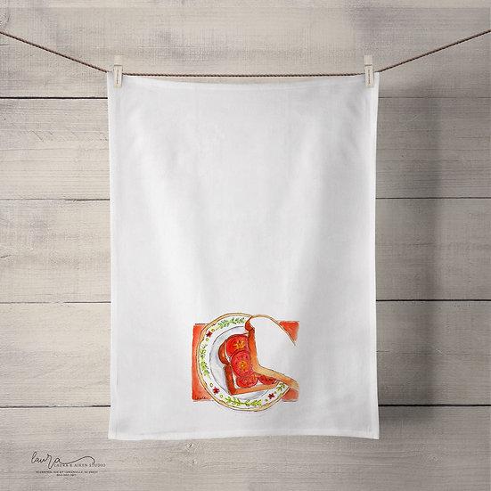 Flour Sack Towel - Tomato Sandwich
