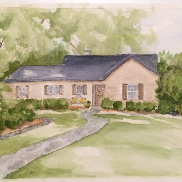 Custom Home Watercolor