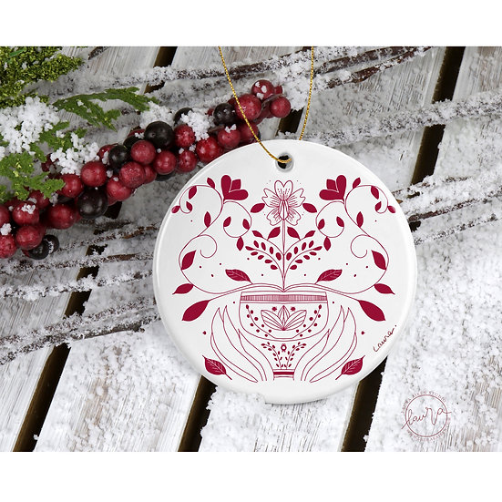 Beautiful Floral Christmas Ornament