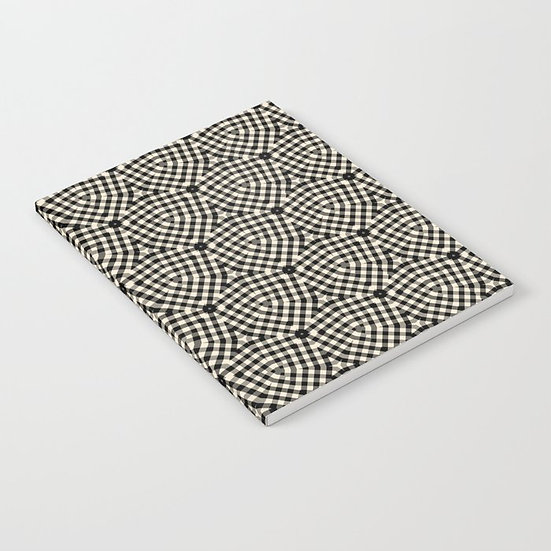 Laura K Aiken Journal in Black and White Check