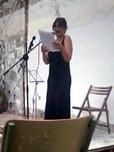 Nuria Torralba durante un momento de su presentación