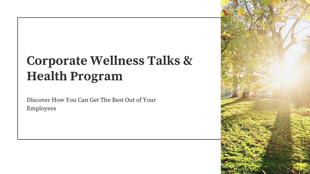 Corporate Wellness Talks & Health Progra