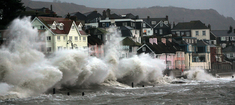 Storm Along the Old Marine Parade, Lyme Regis.
