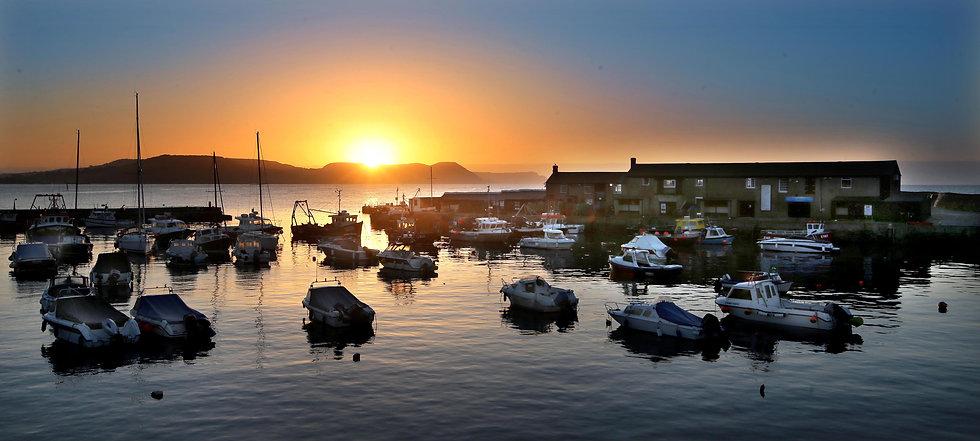 Fishing Boats upon Sunrise, Lyme Regis Harbour.