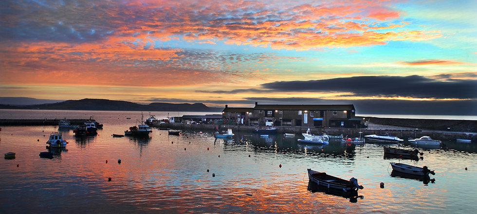 Harbour Sunset, Lyme Regis.