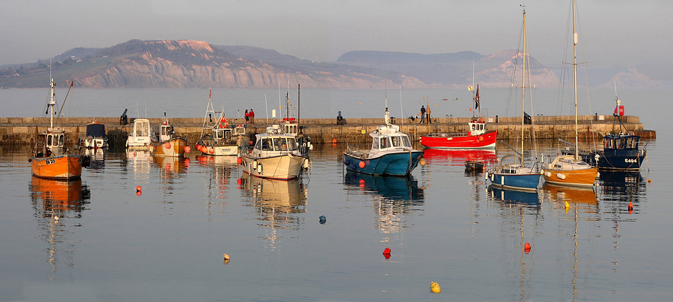 Fishing Boats on Lyme Regis Harbour.