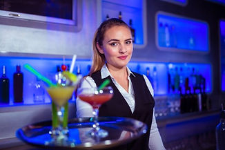 Waiter with tray of drinks.jpg