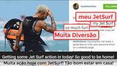 Lewis Hamilton curitindo seu JetSurf
