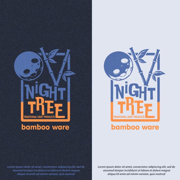 Logo Night Tree Moon
