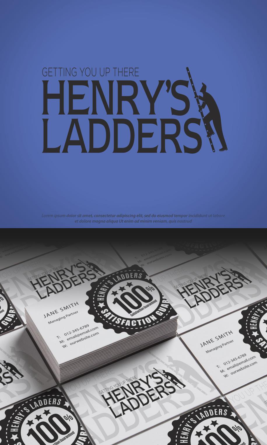 Henry's Ladders Business Cards Mock-Up 1