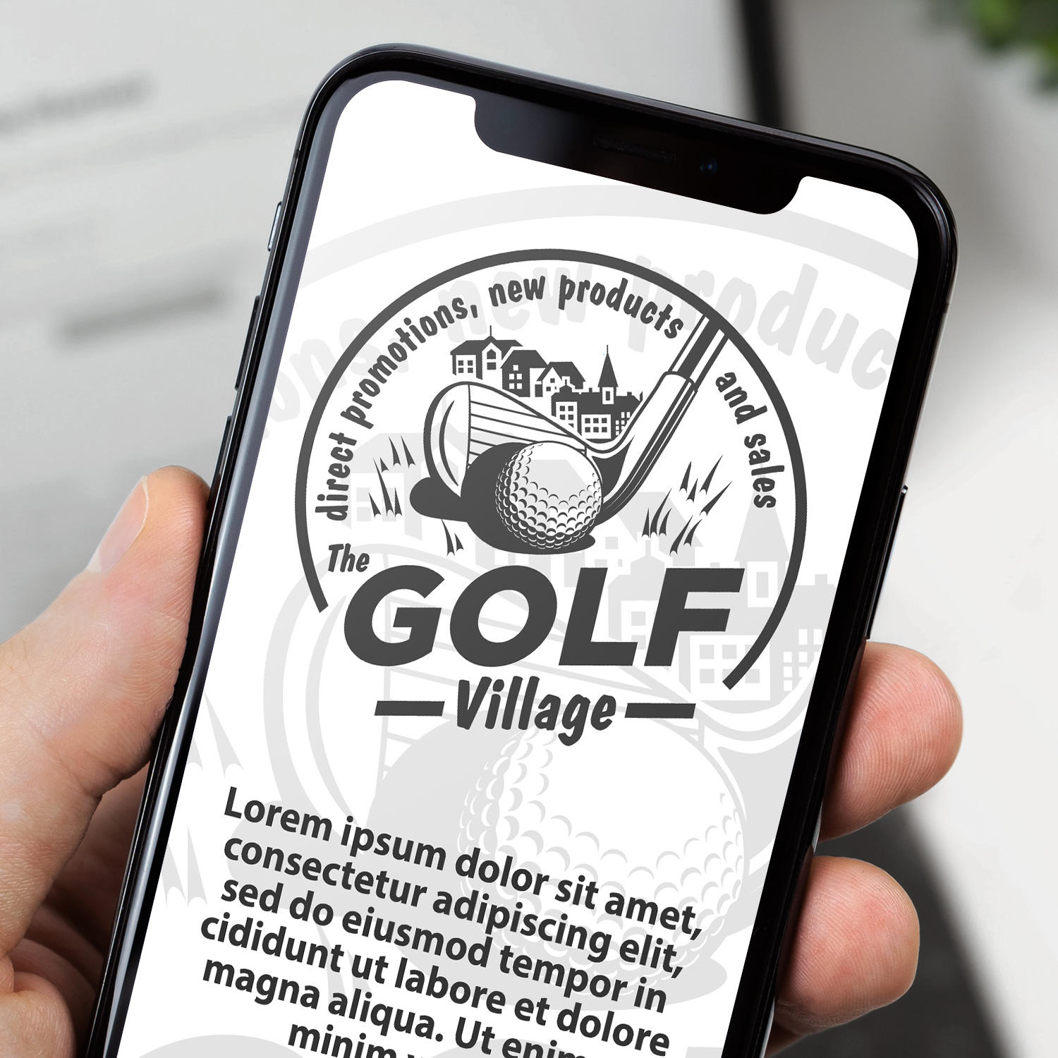 Logo The Golf Village CIRCULAR-01