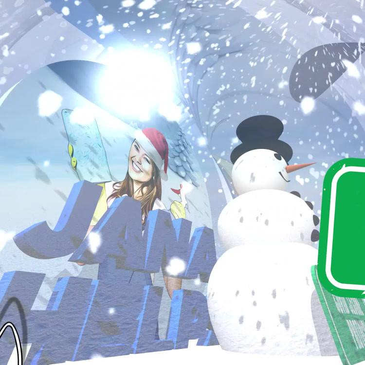Jana Helps Snow Globe Xmas