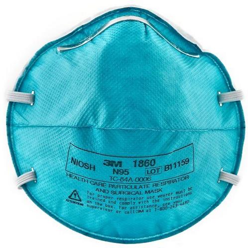 3M 1860 - Surgical N95 Respirator ($6.50/mask, 20/box)