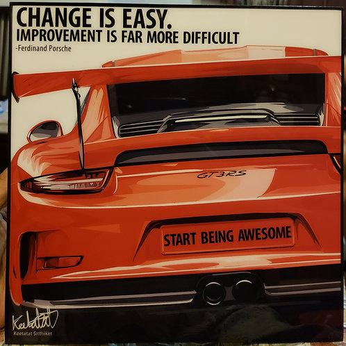 Red Porsche 911 GTR3 RS