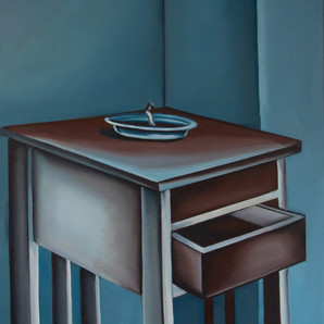 A smouldering nightstand, 2020