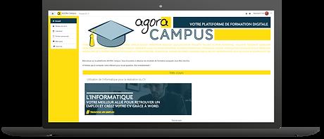 plateforme formation digitale Agora Formation