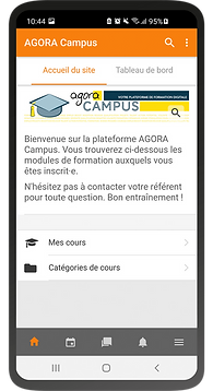 Mobile learning Agora Campus