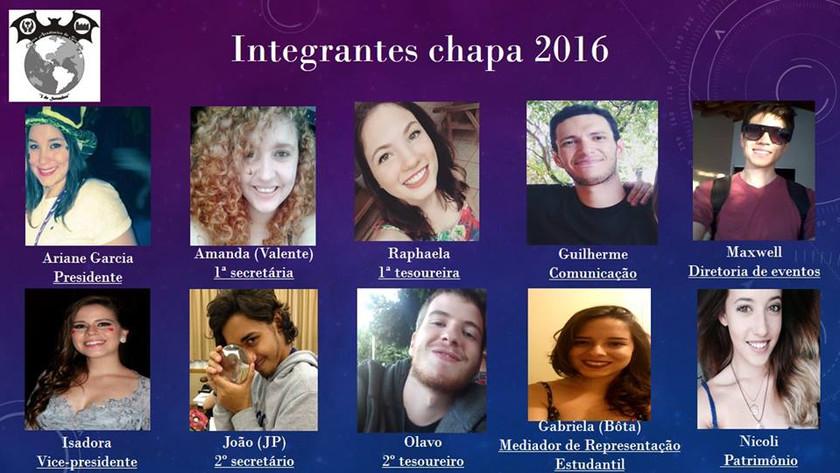 CHAPA 2016 E PROPOSTAS