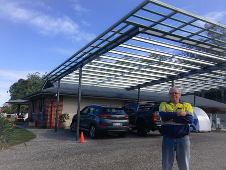 Carport gets a protective coating